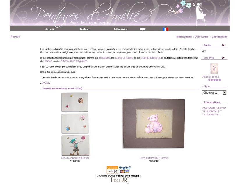 Peintures d'Amélie | Tableaux pour enfant
